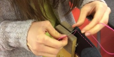 sewing pink