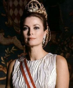Princess Grace of Monaco in crown