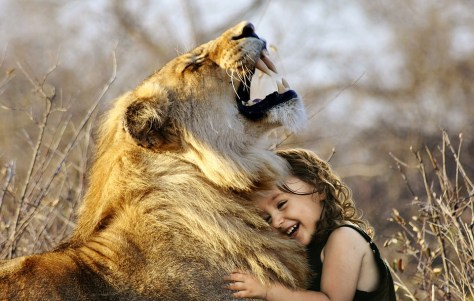 lion child laughing Lion and Lamb