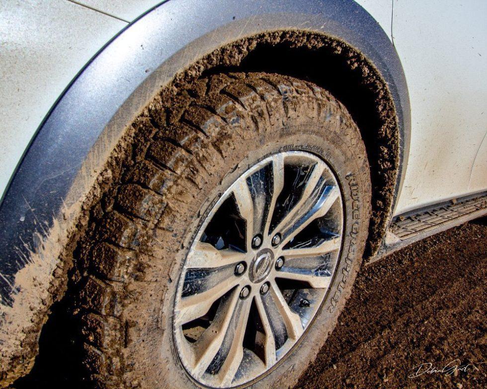 spring mud on tire