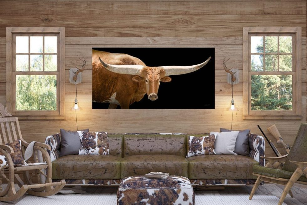 interior designers longhorn living room feature