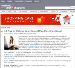 Debra Gould Home Office Decorating Tips