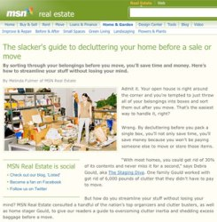 decluttering advice by Debra Gould on MSN