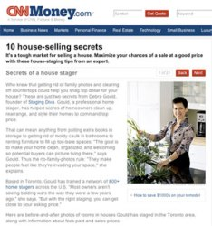 Debra Gould shares secrets of a house stager on CNNMoney.com
