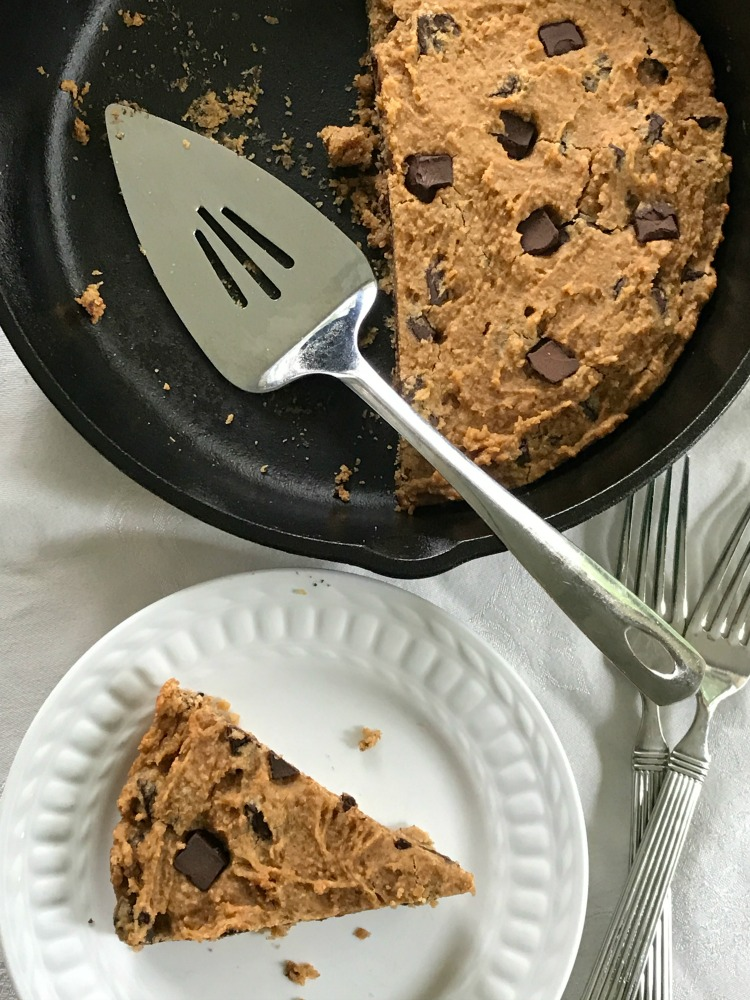 Healthy Dessert: Chocolate Chunk Skillet Cookie