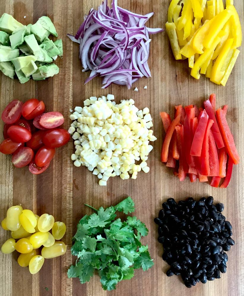 Healthy Veggies for Taco Salad