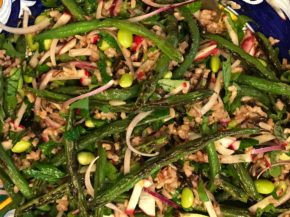 Blistered Green Beans and Wild Rice Salad