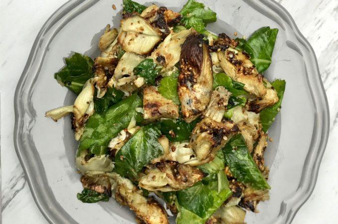 Crispy Artichoke Heart Salad