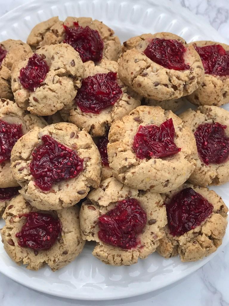 Gluten-free Almond Thumbprint Cookies