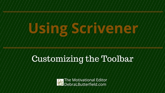 Customizing the Scrivener Toolbar