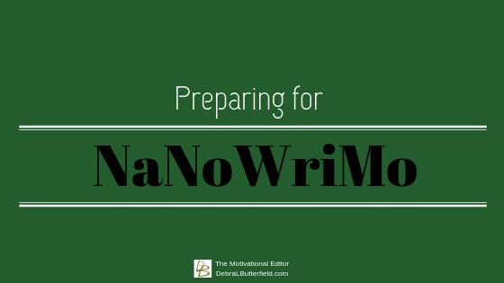 preparing for NaNoWriMo