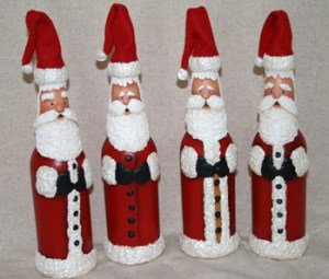 beer bottle santas