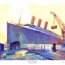 """Four Funnels"" - Titanic Print - Limited Edition by Debra Wenlock"
