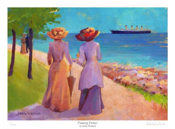 Passing Pickie Titanic Print by Debra Wenlock