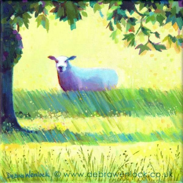 Shane the Sheep Painting, Debra Wenlock