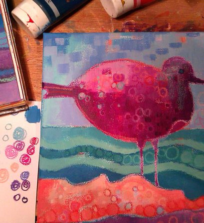 Fantasy Sea Bird - colour & pattern, Debra Wenlock