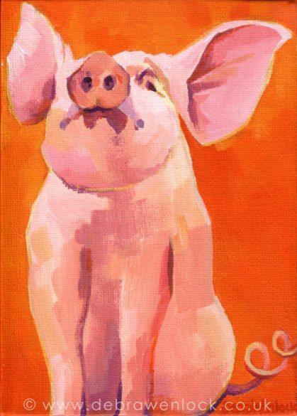 Leicester Piglet by Debra Wenlock