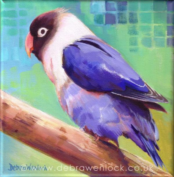 Lovejoy the Lovebird painting by Debra Wenlock