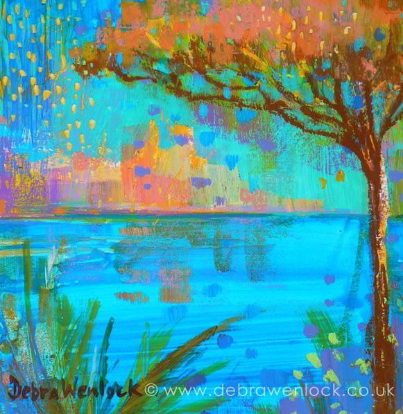 View of Antibes painting by Debra Wenlock