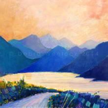Delphi Valley Ireland, acrylic painting by Debra Wenlock