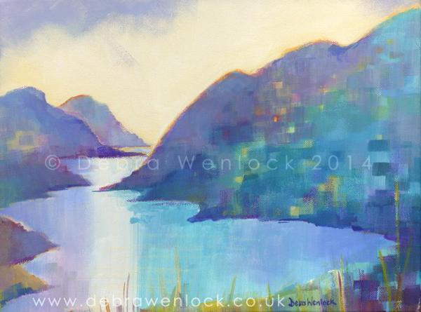 Delphi Valley View acrylic painting by Debra Wenlock