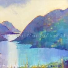 Delphi Valley View acrylic painting by Debra Wenlock