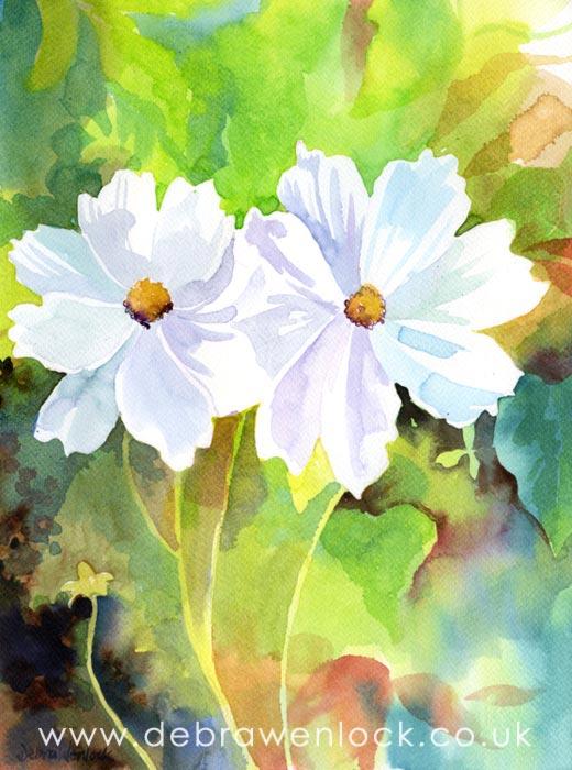 White Flowers by Debra Wenlock