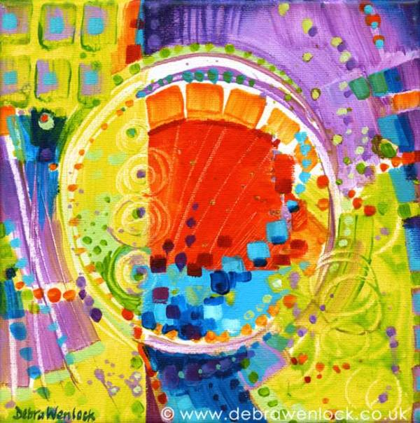 Fairground Attraction Abstract acrylic painting