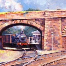A Quiet Day at Bundoran Junction - Irish railway painting by Debra Wenlock