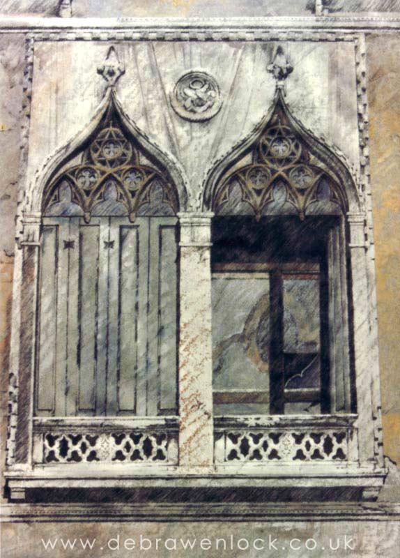 Venetian Balcony painting by Debra Wenlock