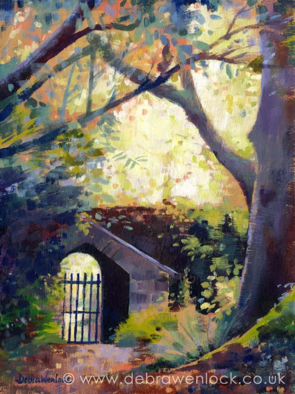 Altamont Gardens and Arboretum, Tullow, County Carlow, Ireland | Irish Art | Garden Art | oil painting by Debra Wenlock