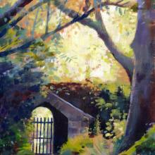 Altamont Gardens and Arboretum, Tullow, County Carlow, Ireland | Irish Art | Garden Art | oil painting by Debra Wenlock