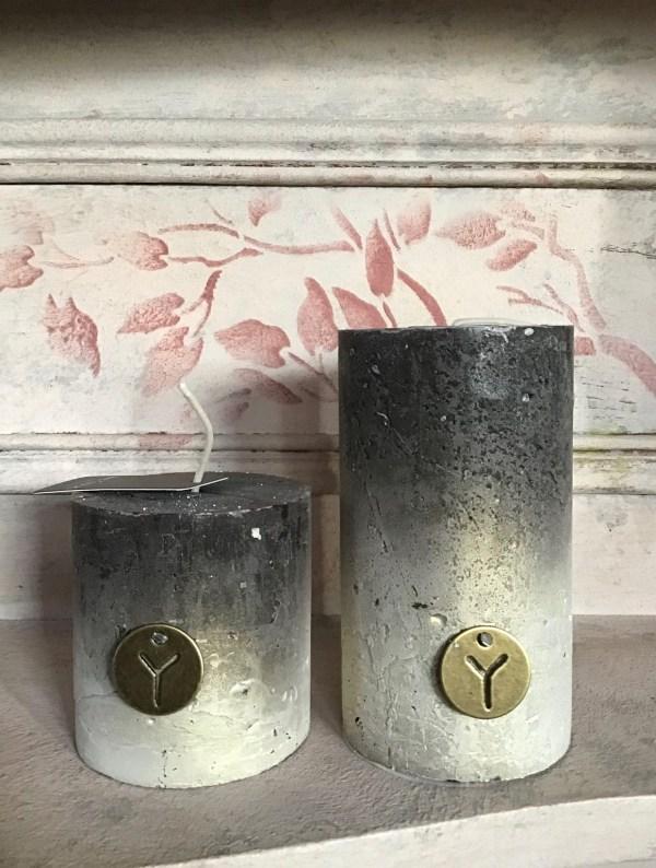 kaarsen zwart/goud/beige