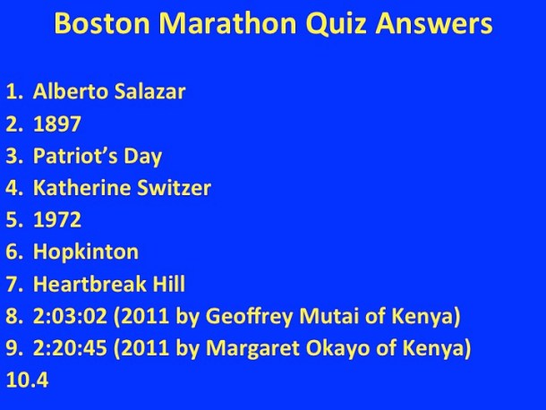 BostonMarathonAnswers