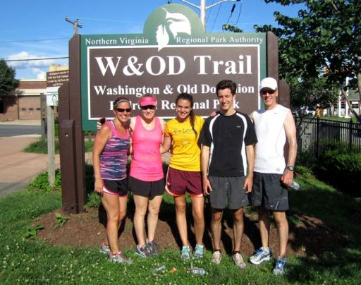 W&ODTrailUltraGroupFinishSign