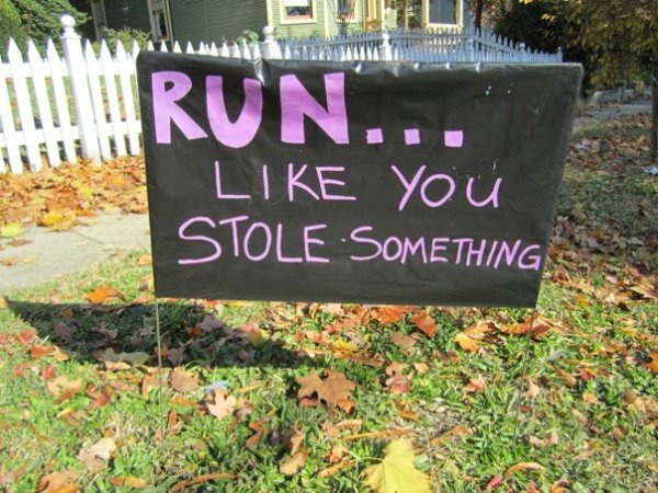 RichmondMarathonStoleSomethingSign