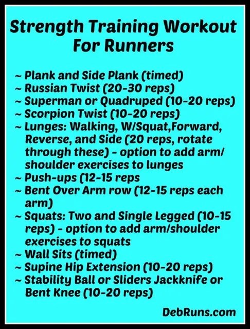StrengthTrainingWorkoutForRunners