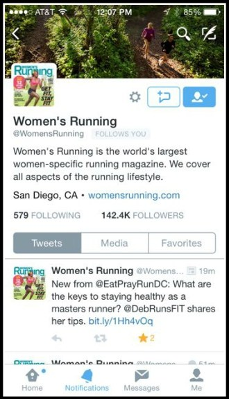 WomensRunningMastersRunnerTweet