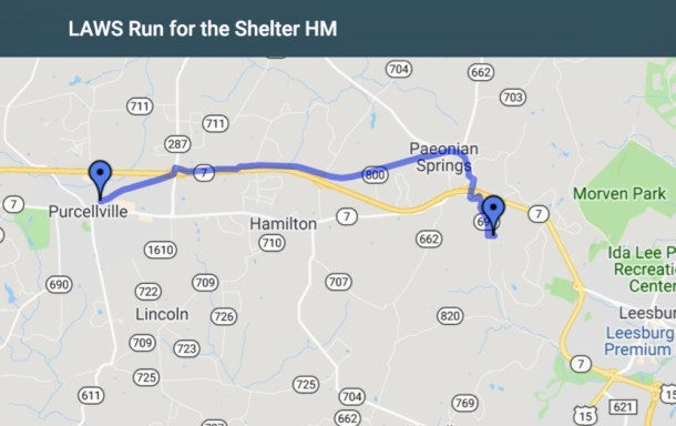 LAWS Run For Shelter Half Marathon