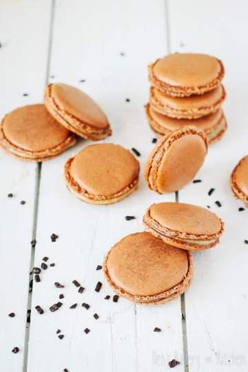 chocolademacarons met speculaasroom