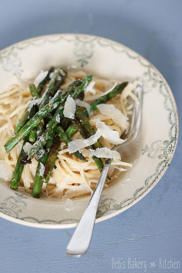citroenspaghetti met groene asperges