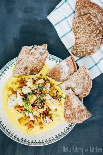 Indiase bloemkool met chapati's