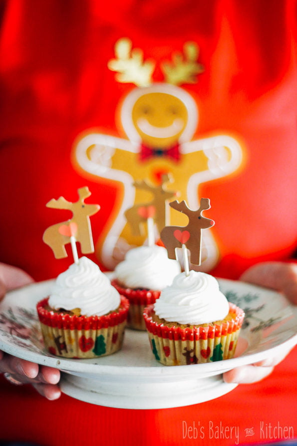 cupcakes met cranberry appelcompote