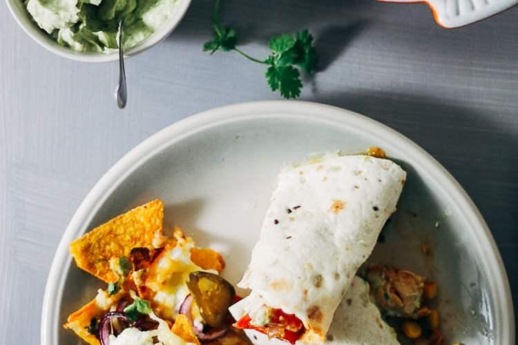 kipwraps met guacamole en kaasnachos