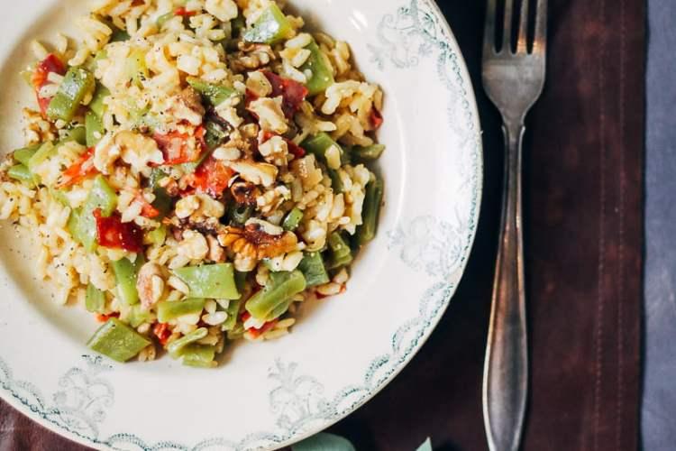 risotto met snijbonen en chorizo