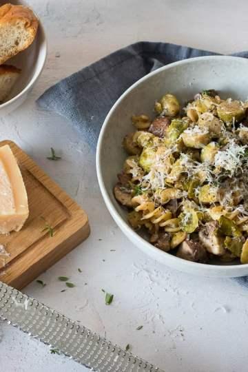 pasta met spruiten en truffel