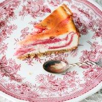 Rabarber cheesecake
