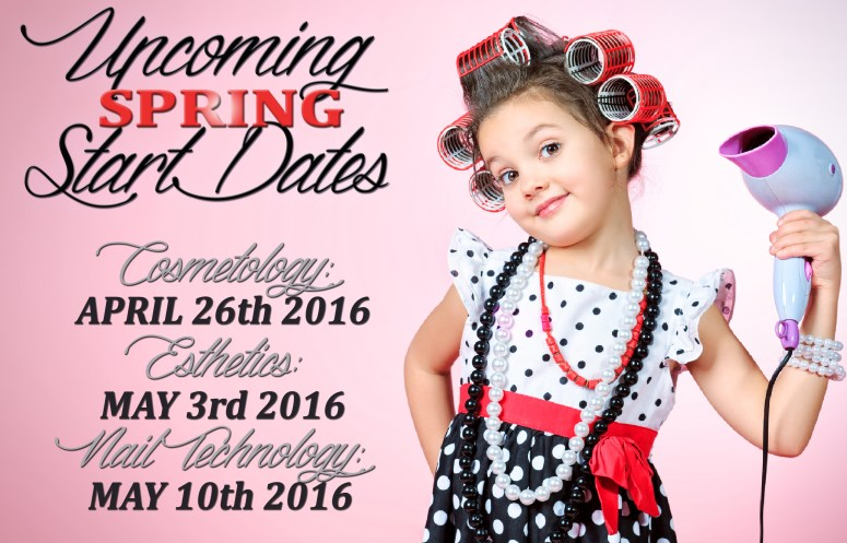 Upcoming Spring Start Dates 2016 Little Girl with Blowdryer