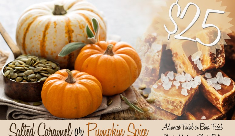 Pumpkin Spice or Salted Caramel Anyone?