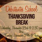 Thanksgiving Break 11.23.16 until 11.28.16
